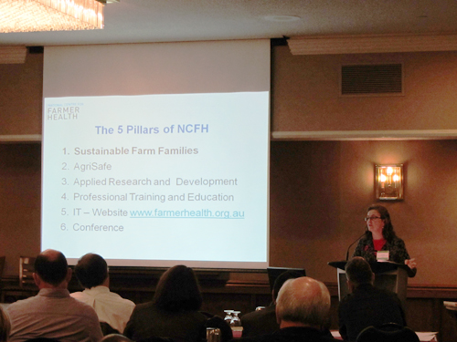 Susan Brumby presenting at the Canadian Agricultural Safety Association