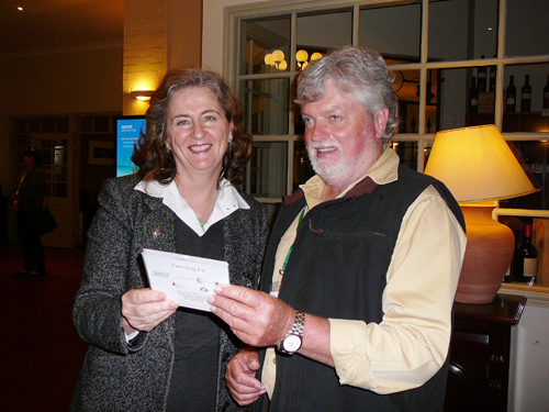 Director Sue Brumby with Australia South Devon Breeders Society president David Crocker