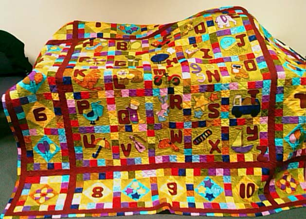 Beautiful quilt by Elizabeth as part of the Sustainable Diary Farm Families Future Directions workshops