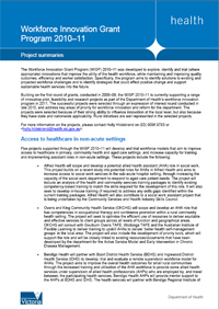 Workforce Innovation Grant Program 2010-11 Information Sheet