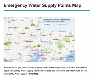 Victorian Emergency Water Supply Points