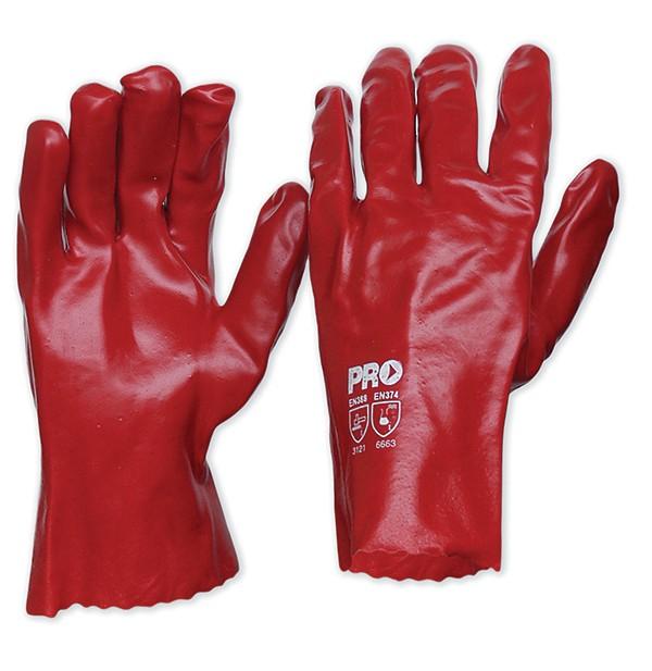 Red PVC Gloves 27cm Length